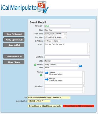 iCal Manipulator Plugin